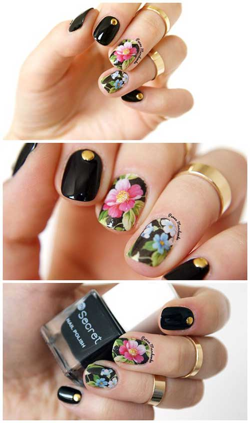 Nail Designs with Stickers-8