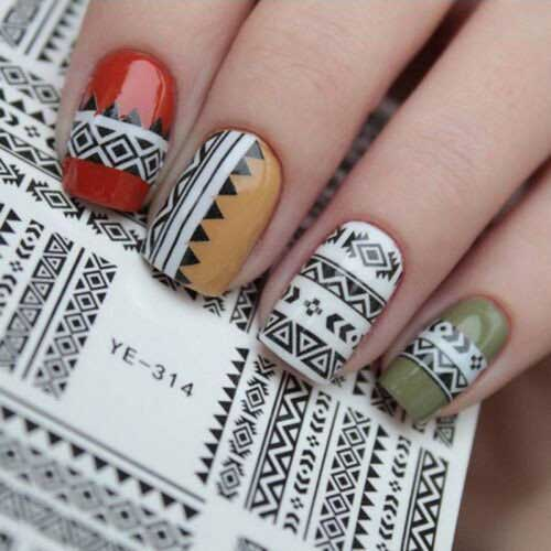 Nail Designs with Stickers