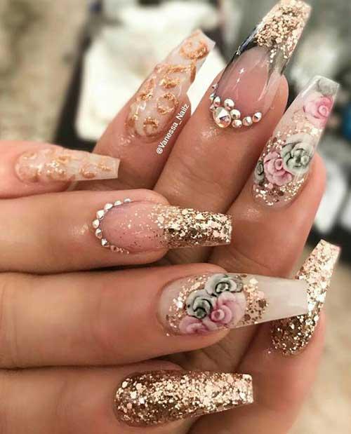 Glittered Nail Art Designs-13
