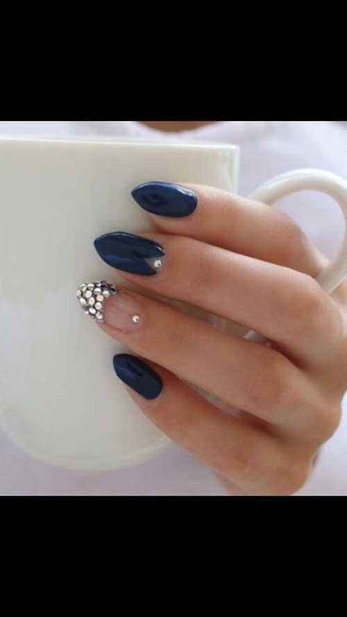 Almond Shape Nail Designs-9