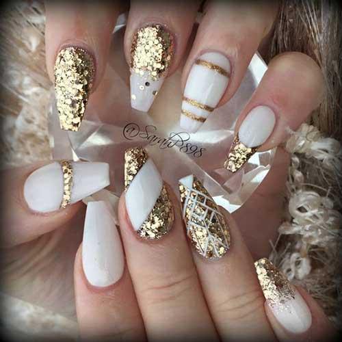 Glittered Nail Art Designs