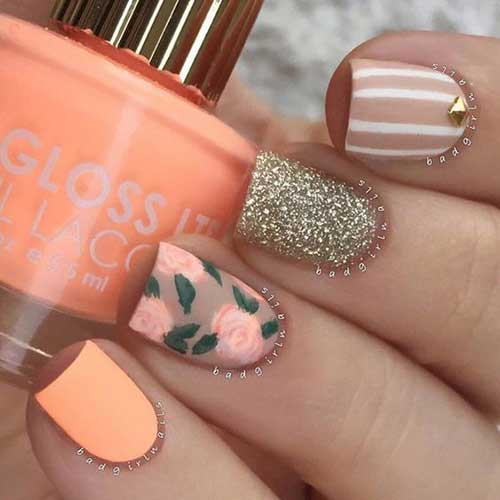 Glittered Nail Trends