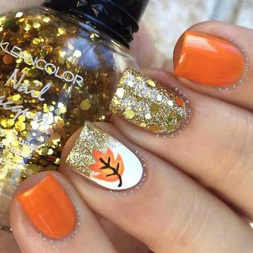 Glittered Nail Designs-11