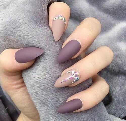 Almond Shape Nail Arts-12