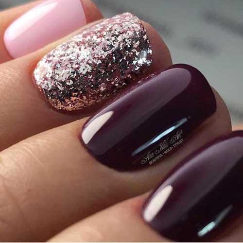 Glittered Nail Designs-13
