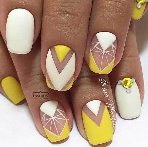 Geometric Nail Designs-14