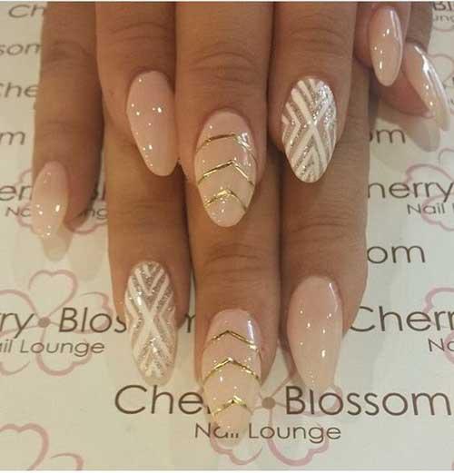 Almond Shape Nail Arts-8