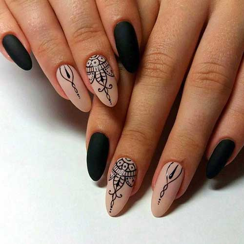 Almond Shape Nail Arts-9