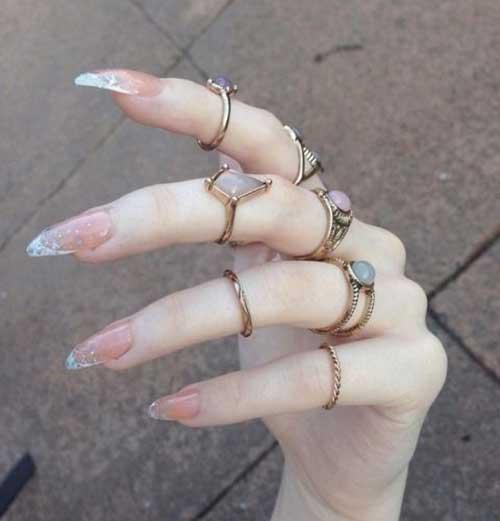 Almond Shape Nail Arts