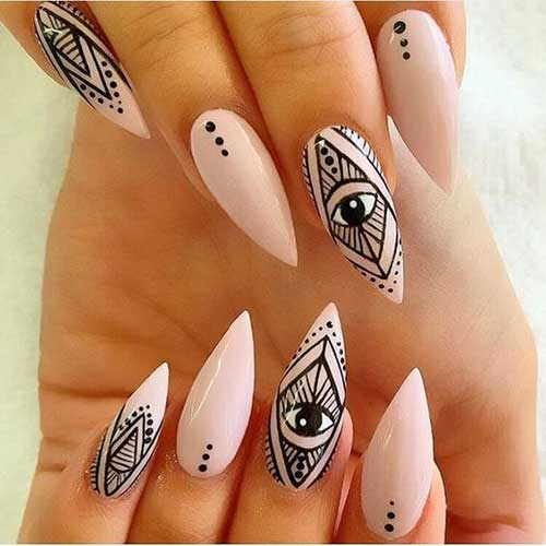 Stiletto Shape Nail Arts