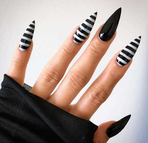 Stiletto Shape Nail Designs