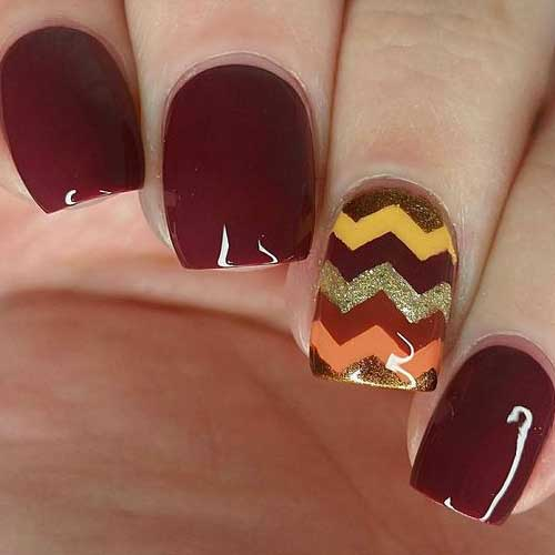 Fall Season Nail Designs-10