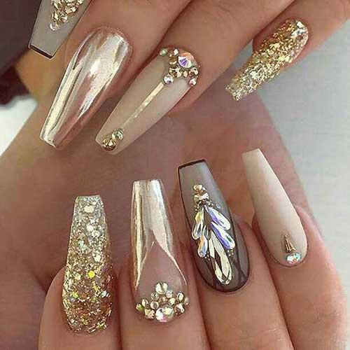Golden Nail Designs-10