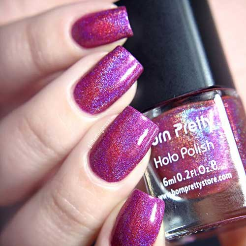 Holographic Nail Designs-11