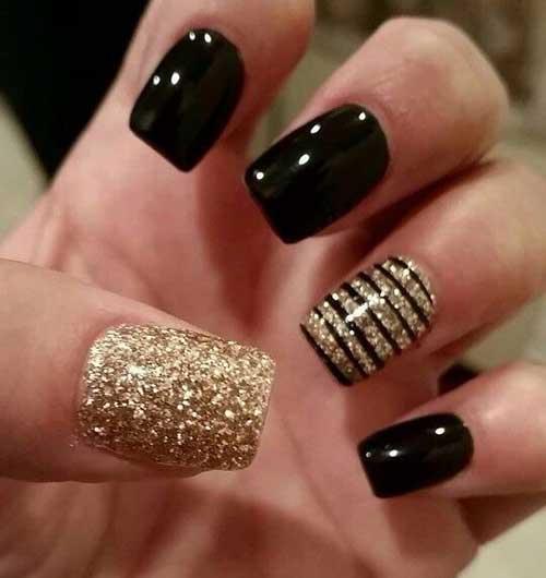 Golden Nail Designs-13