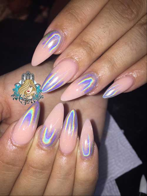 Holographic Nail Designs-16