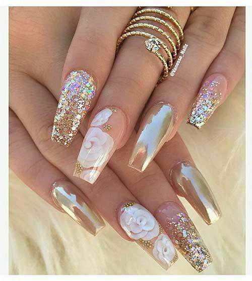 Golden Nail Designs-17