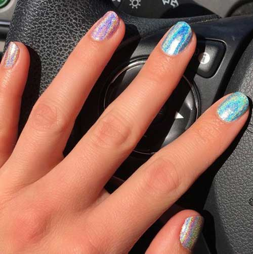 Holographic Nail Designs-6