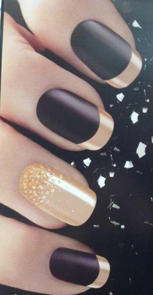 Golden Nail Designs-7