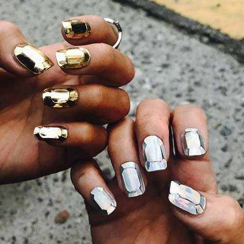 Holographic Nail Designs-7