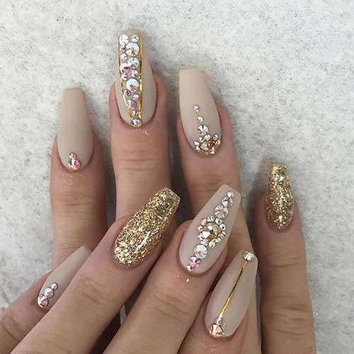 Golden Nail Arts