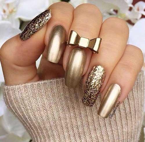 Golden Nail Styles