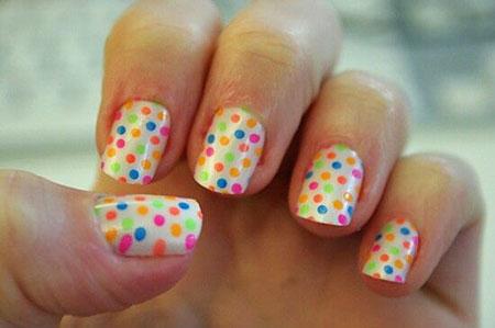 Polka Dots, Nail, Polka, Dots, Dot, Kids, Art, Simple, Girls
