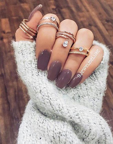 Dark Nail, Nail, Colors, Winter, Rings, Ring, Purple, Grey, Fall