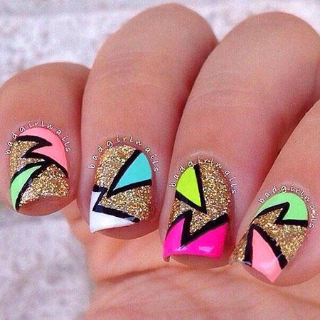 Colorful Nail, Nail, Funky, Colorful, Art, Summer, Design