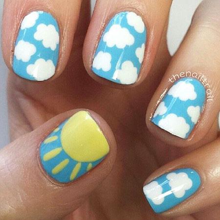 Sunshine Nail, Nail, Sunshine, Art, Summer, Party, Parties