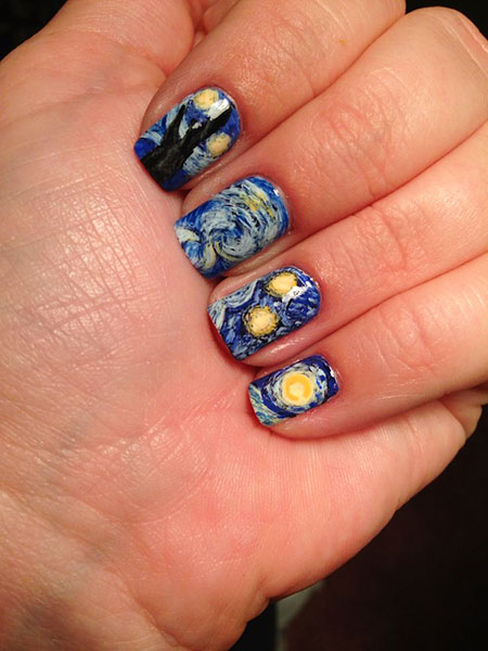 Starry Night, Nail, Starry, Art, Stamps, Polish, Jamberry, Design