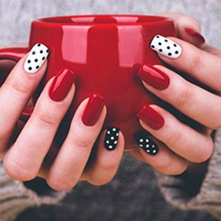 Polka Dots, Nail, Polka, Dots, Dot, Art, Simple, Gel, Easy, Different
