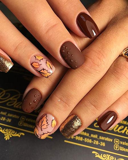 Fall Leaves Nail Art, Nail, Manicure, Design, Fall, Art