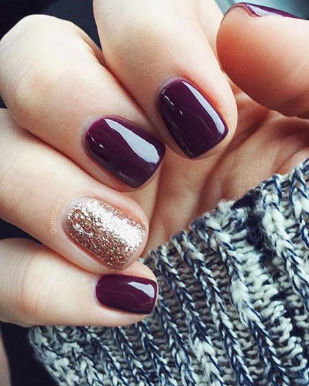 Cute Nail, Nail, Glitter, Pretty, Polish, Natural