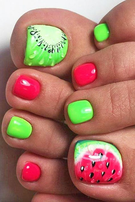 Pretty Nail, Nail, Toes, Toe, Summer, Pretty, Green