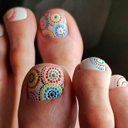 Polka Dots Design, Nail, Dots, Art, Toes, Toe, Polka, Neon