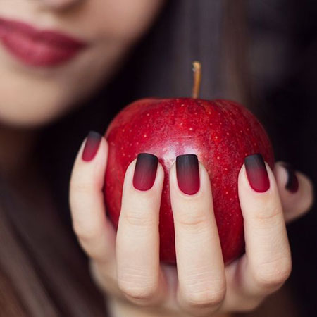 Red Ombre, Nail, Fall, Short, Ombre, Long, Halloween