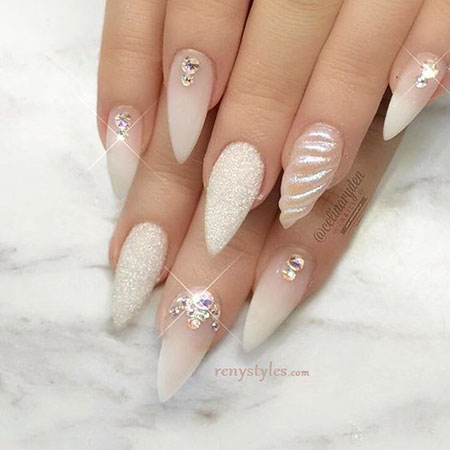 30 Best Stiletto Nail Art Ideas , Nail Art Designs 2017