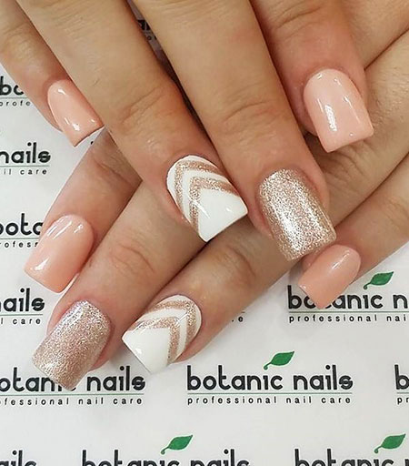 Beige And White, Nail, Art, White, Design, Beige