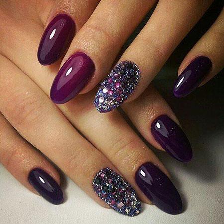 Purple Nail, Nail, Art, Purple, Manicure, Design, Colours