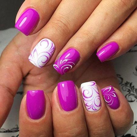 Summer Nail, Nail, Manicure, Design, Art, Summer, Floral, Cute