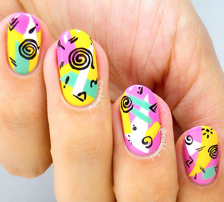 Short Nail Art, Nail, Art, Spongebob, Design