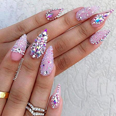 Swarovski Crystal Nail, Nail, Stiletto, Swarovski
