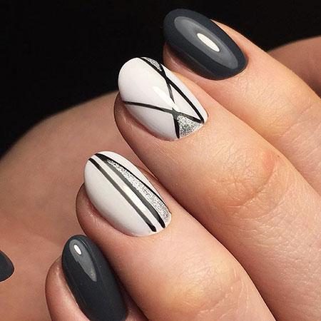 Geometric Nail, Stiletto, Nail, Long, Hollywood, Geometric