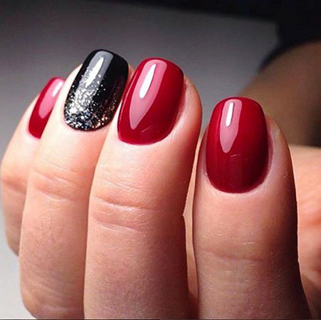 Red And Black, Nail, Art, Pretty, Polish, Opi, Manicure