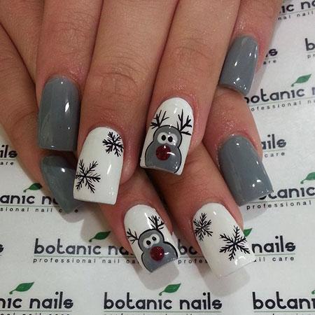 Cute Nail, Nail, Christmas, Cute, Art, Winter, Design, Dandelion, 20