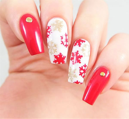 Winter Nail Stickers, Nail, Art, Winter, Two, Stickers, Snowflake