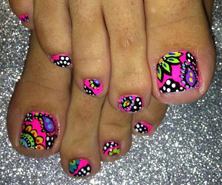 Toe Nail, Nail, Toe, Art, Summer, Design