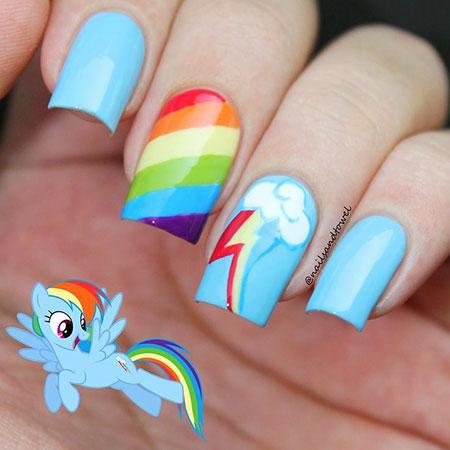 Rainbow Nail, Nail, Rainbow, Kids, Little, Art, Pony, Girls