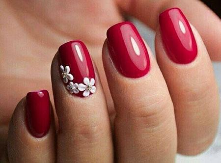 Red Nail, Nail, Art, Polish, Manicure, Design